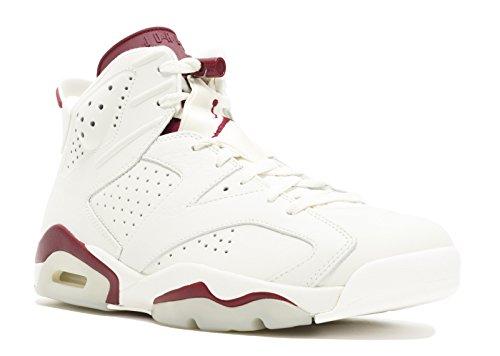 Nike Air Jordan 6 Retro, Zapatillas de Deporte para Hombre, Negro/Rojo Infrared 23-Black, 41 EU
