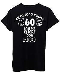 Idea Regalo - iMage T-Shirt 60 Anni per Diventare Figo Compleanno Regalo - Eventi - Uomo-XL-Nera