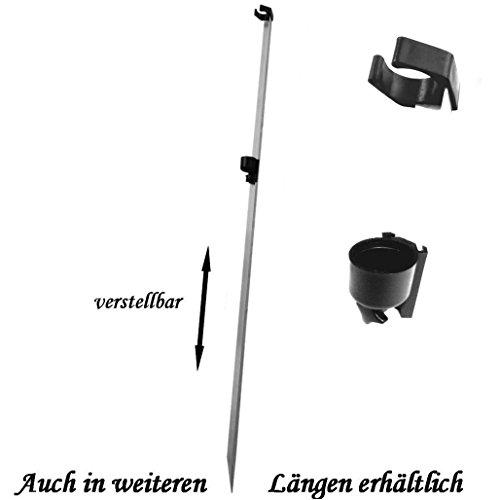 Brandungsrutenhalter / Welsrutenhalter MC231-1,50m Alu