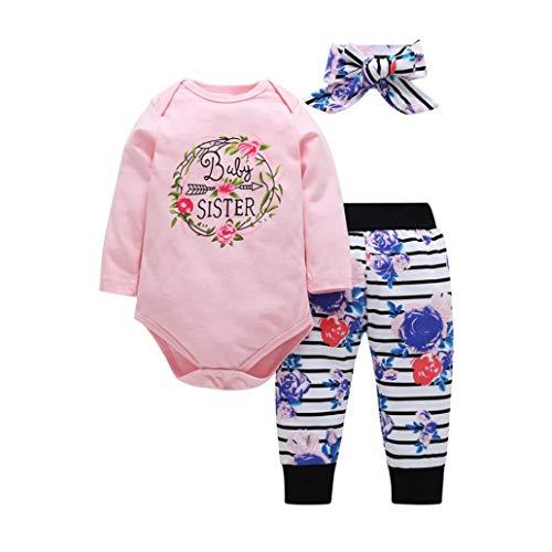 Elecenty Babyklamotten Kleiderset,Herbst Babybodys Blumendruck Langarm Jumpsuit +...