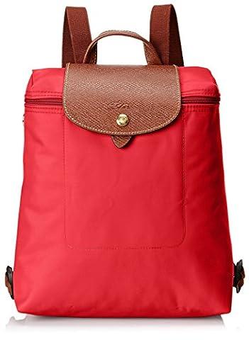 Longchamp Damen Le Pliage Backpack Rucksack, Rot (Red), 23 x 40 x 55 cm