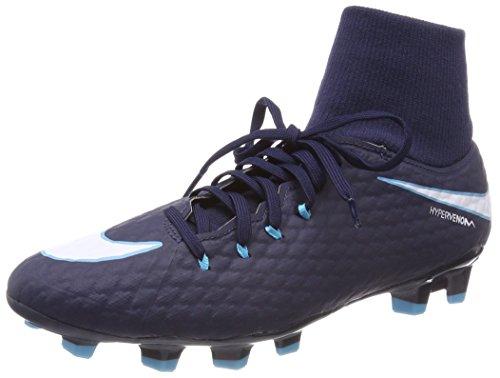 Nike Unisex-Erwachsene Hypervenom Phelon 3 DF FG 917764 414 Sneaker, Mehrfarbig (Indigo 001), 44.5 EU