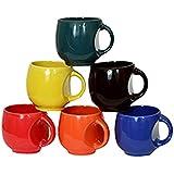 Pari Enterprises Kv Ucp 6 Pieces Cup Set Marble Finish/Matt Finish Of Multi Colour With Great Design Border (6 Cup) (ceramic); 150 Ml Cup