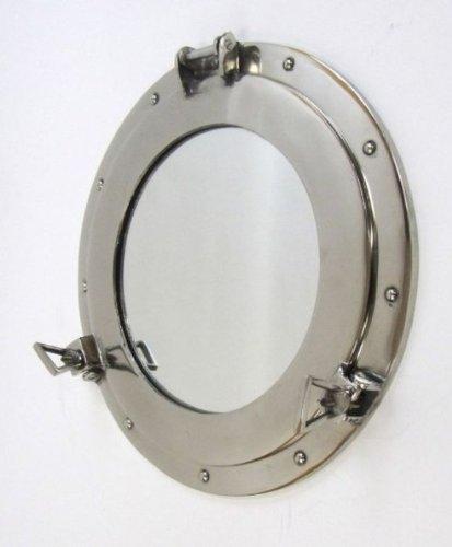 Nagina International Aluminium Bullauge Spiegel - 17 Zoll W/Chrome Finish - Nautische Schiff Dekor