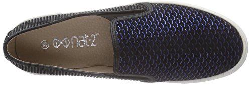 Nat-2 Daily 2, Low-Top Sneaker femme noir (black blue)