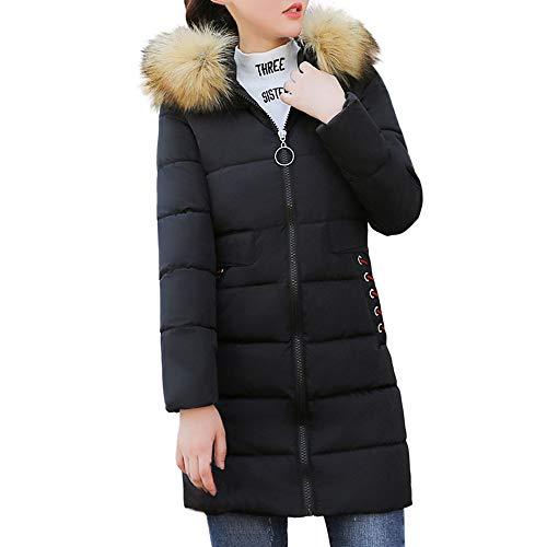 Frau Winter Warm Mantel Faux Pelz Mit Kapuze Dick Warm Schlank Jacke Lange Mantel