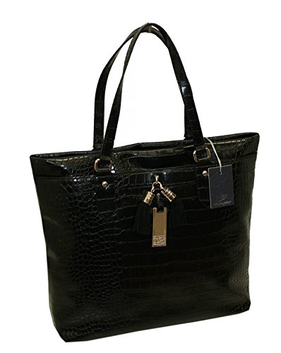 BORSA SHOPPING CON TASCA BYBLOS 645021 WOMAN HANDBAGS MACBETH NERO