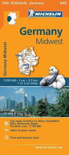 Germany Midwest - Michelin Regional Map 543 (Michelin Regional Maps) (Michelin Maps Deutschland)