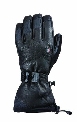 Seirus Isolierte Handschuhe (Seirus Innovation 1098 Herren Heat Touch Inferno Wiederaufladbare beheizte kalte Wetterhandschuhe mit Soundtouch-Touchscreen-Technologie - Top, Herren, 1098, Schwarz, XL)