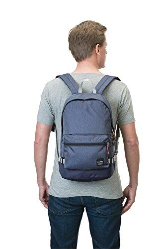 Pacsafe Slingsafe LX400Diebstahlschutz Rucksack mit abnehmbarer Tasche, chili red (rot) - 688334026042 Denim/601