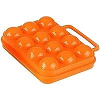 Outflower - Huevera creativa de plástico, accesorios para el hogar, utensilios de cocina, 12 cuadrículas, caja de almacenamiento para huevos de picnic