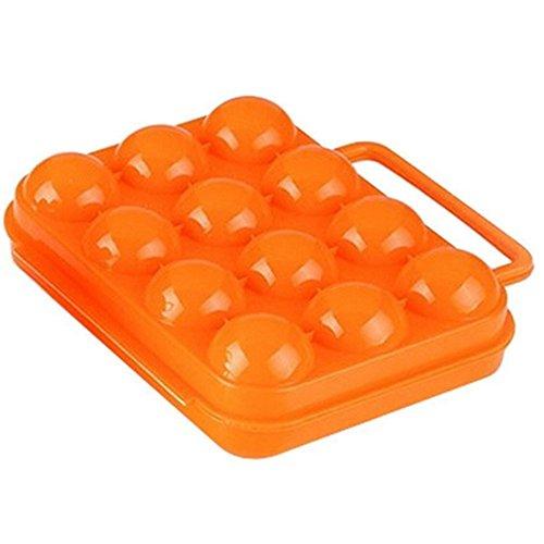 Skyeye 1 Stück Im Freien bewegliches Ei-Enten-Kasten-Picknick Portable Jede Box kann 12 Eier aufnehmen Orange (Ente-ei-boxen)