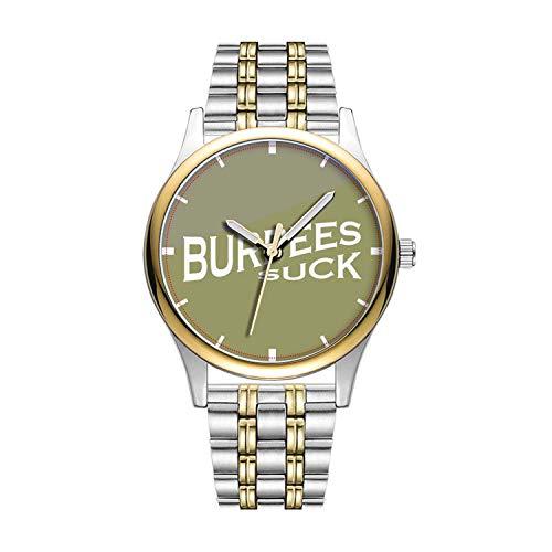 Personalisierte Minimalistische Burpees Suck-Funny Inspiration Wristwatch Goldene Fashion wasserdichte Sportuhr