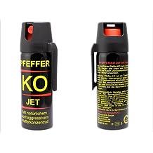 2xPfefferspray, Abwehrspray, KO Jet, 50ml, Familien Packung