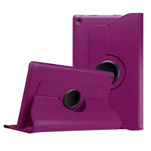 Pour 2015 Amazon Kindle Fire HD, Malloom Housse en cuir Shell 8 pouces Tablet (Pour 2015 Amazon Kindle Fire HD, Violet)