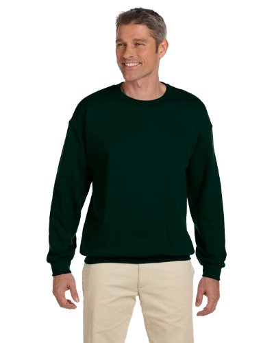 9.7 oz.Ultimate Cotton 90/10 Fleece Crew, gro?, DEEP FOREST (Ultimate Cotton Crew Sweatshirt)