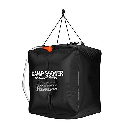 Y&SJ Solarduschtasche, 40L Camp Shower Abnehmbarer Schlauch EIN/Aus Umschaltbarer Duschkopf Für Outdoor Wandern Klettern Reisen Heißwasserdusche -