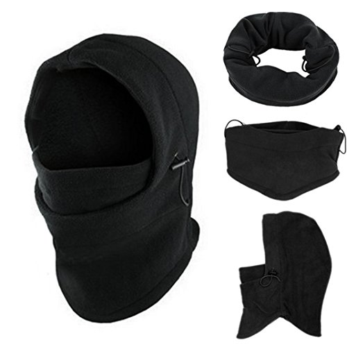 Malloom® 6 in1 Hals Balaclava Winter Gesicht Hut Fleece Haube Ski Maske Warme Helm (Balaclava Haube)