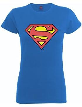 DC Comics - Camiseta de manga corta con cuello redondo para mujer