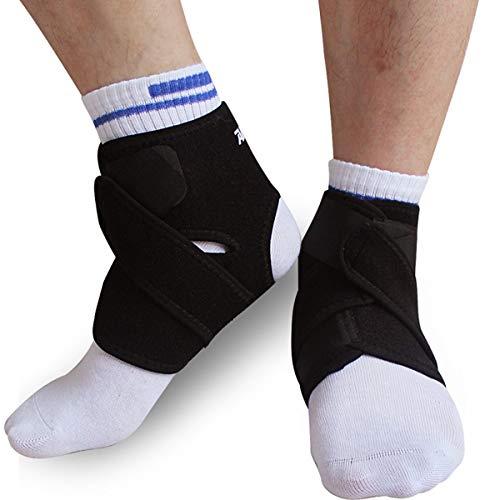 HaiQianXin Knöchelbandage Unterstützung Pad Guard Fußverletzung Wrap Warmer Gym Sport Stretchy Strap