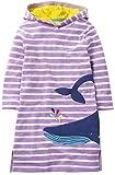 Ho Mall Wenig Mädchen Niedlich Beiläufig Baumwolle Tier Gedruckt Streifen Lange Ärmel Spielkleidung Kleid (Muster 2, 5-6 Jahre alt)
