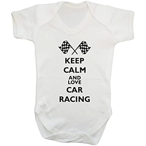 Keep calm love racing car-Giacca body babygrow