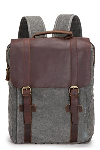 aidonger-mens-and-womens-leather-canvas-backpack-for-14-inch-pc-laptop-for-travel-school-grey