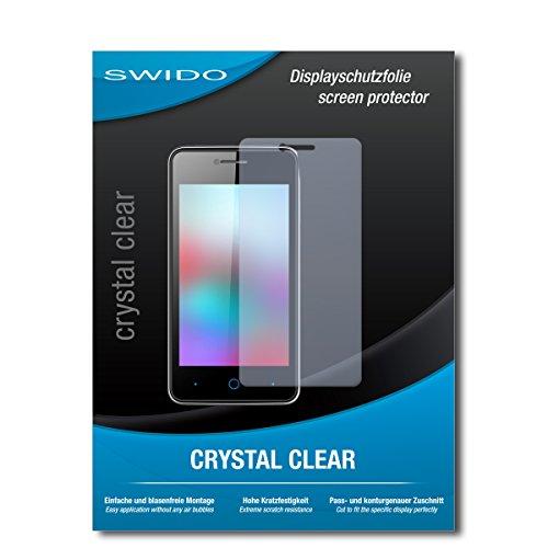 SWIDO Bildschirmschutz für ZTE Blade C341 [4 Stück] Kristall-Klar, Hoher Härtegrad, Schutz vor Öl, Staub & Kratzer/Schutzfolie, Bildschirmschutzfolie, Panzerglas Folie