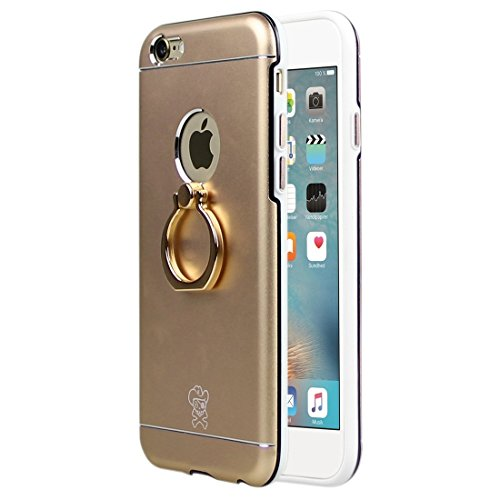 Phone case & Hülle Für IPhone 6 / 6s, Hat-Prince Magnesium Legierung + PC + TPU Kombi-Fall mit Ring Halter Stand ( Color : Rose Gold ) Gold
