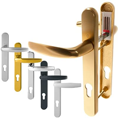 Hoppe 'Atlanta' Pair Handle 92PZ or 92mm Sprung Lever UPVC Door Set, PVC PVCu Centre to centre fixings 122mm