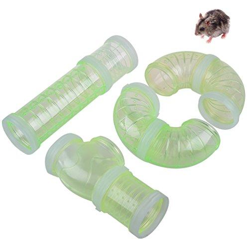 Petacc Hamster Cage Tube Hamster Tunnel Röhre Hamster Spielzeug für Kleintier (Grün)