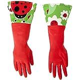 Vigar 3381 Rubber Gloves Ladybird Motif