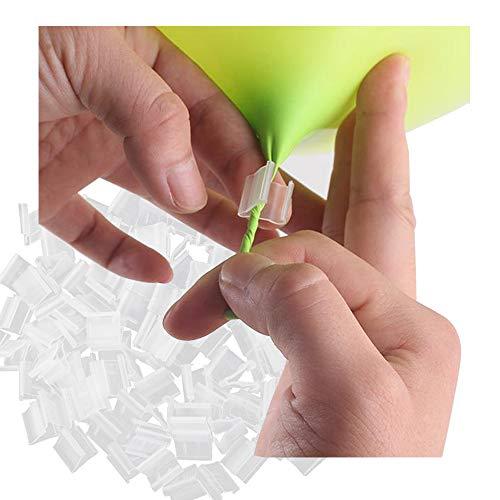 REKYO 400pcs Stück Ballon Clip der V Form Ballon Mund spannen Ballon Schließung verhindert Auslaufen zur Abdichtung (400)
