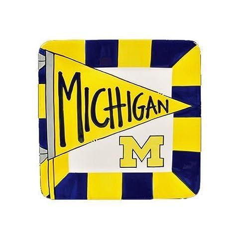 8 University of Michigan Ceramic Flag Square by Magnolia Lane