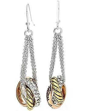 Guess Damen Ohrringe Ohrhänger Metall Silber UBE11127