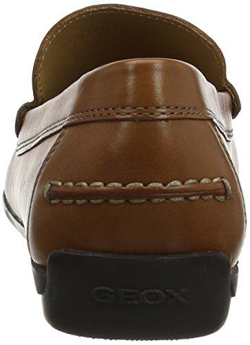 Geox U Siron A, Mocassini Uomo Braun (COGNACC6001)