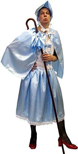 Herrenabend Nacht-Drag-Queen-Fancy Kleid-Pantomine BO PEEP Herren Kostüm - Von s-L Erwachsene - Wie abgebildet, Men: (Peep Erwachsene Kostüm Bo Für)