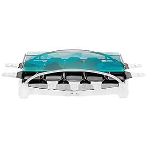 Tefal RE457116 Appareil à Raclette Ambiance Blanc - 10 Coupelles