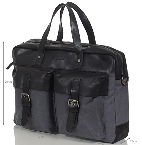 Bugatti Sac de Plage Shopper Urbano, 42 cm, Sable Anthracite