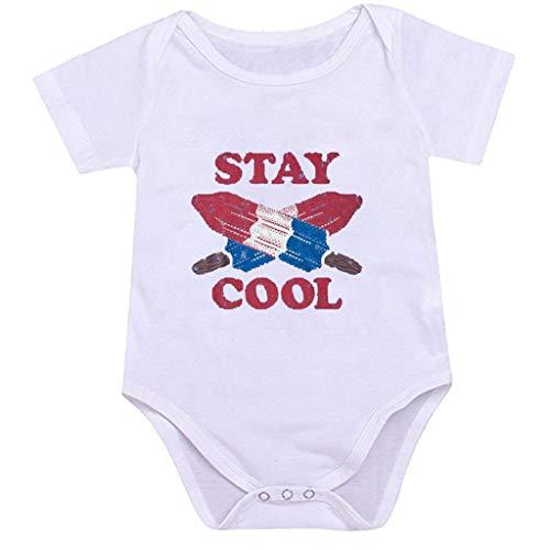 Bfmyxgs(0M-24M Kinder Alphabet Mode Overall süßes Baby Kleinkind EIS gedruckt Muster -