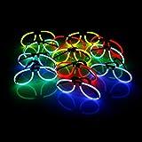 12 leuchtende Knicklicht-Brillen inkl. 24 Arm-Knicklichtern KNIXS im Farbmix | geprüfte...