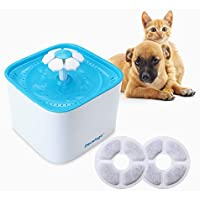 Docatgo Fuente de Agua Silenciosa para Mascotas, 2L dispensador Silencia Fuente con 2pcs Filtro de