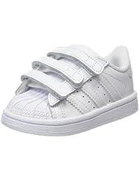 adidas Superstar CF I, Baskets Mixte Bébé, Blanc