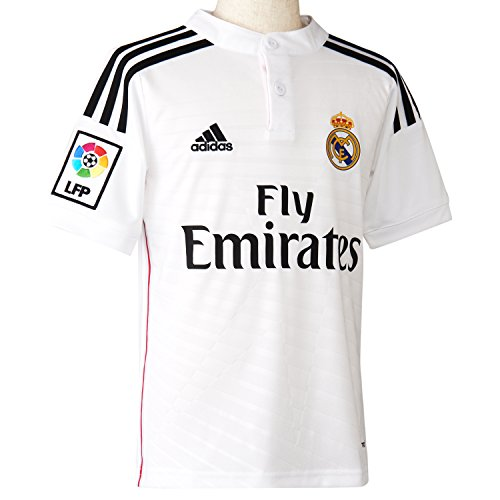 Nike Real Madrid 2014/2015 Jersey da Casa Junior, Bianco/Nero, 11-12 anni