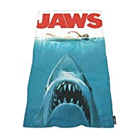Moslion Soft Bath Towels JAWS biting Shark naked girl swimming Comfy Bathing/Beach/Camping Towel for Women Men Kids Girls Boys Large Size 64x32 Inches