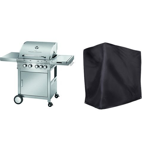 Profi Cook PC-GG 1059 Gasgrill 4+1 Brenner + Ultranatura Barbecue Grill Hülle Chateau