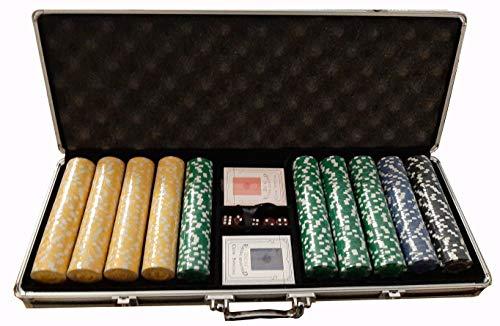 Set Poker Valigetta Completo 500 Fiches 115 Grai Texas Holdem