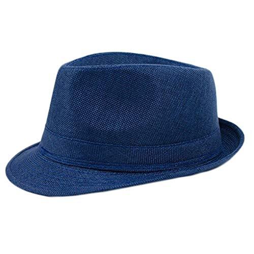 ee4714936 Weimilon Cappello Panama da Uomo Elegante Visiera Berretto con Elegante  Primavera Unico Autunno Colore Solido Berretti