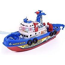 El Juguete eléctrico de los Botes Salvavidas de los niños creativos, iluminando el Modelo de