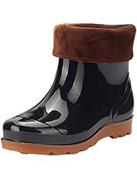 72f79a1a3fe1ff Herren Gummistiefel Warm Futter Kurze Stiefel Regenstiefel Rain Schuhe  Wasserdicht
